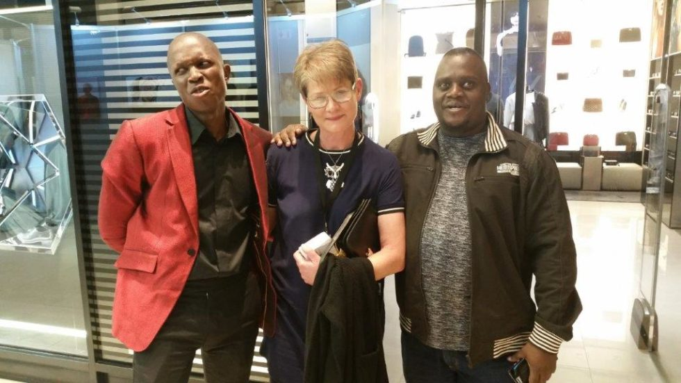 Nelson Makamo Cathy Verheul and Edward at Rotary art festival Hydepark 2016